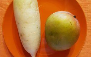 полезный дуэт: дайкон и манго